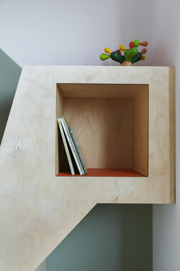 close up of kids shelf
