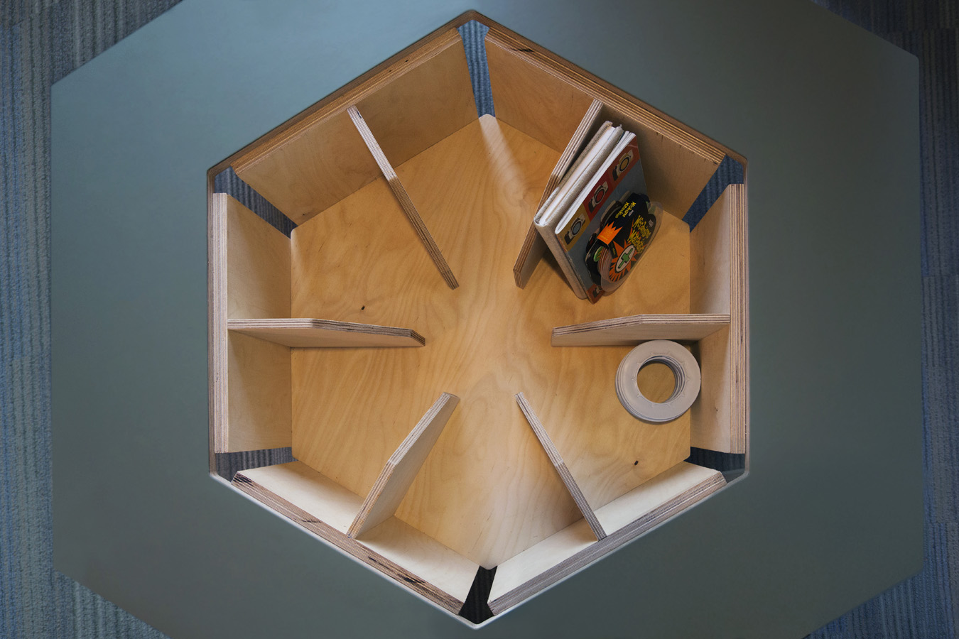 storage space inside of kids table