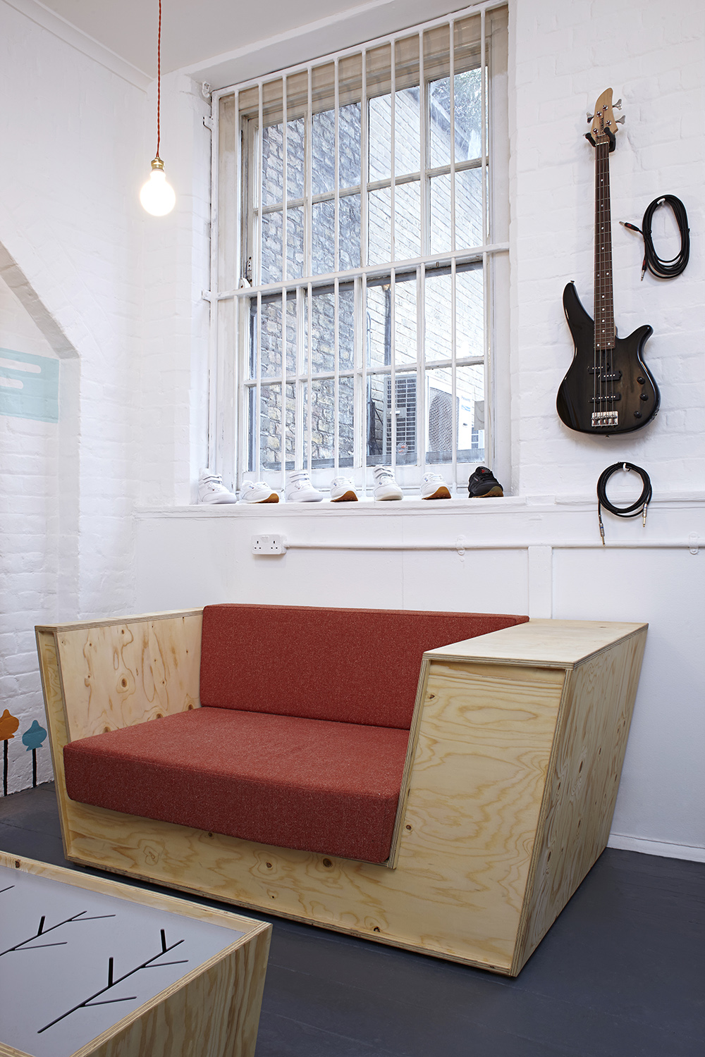 box shaped sofa