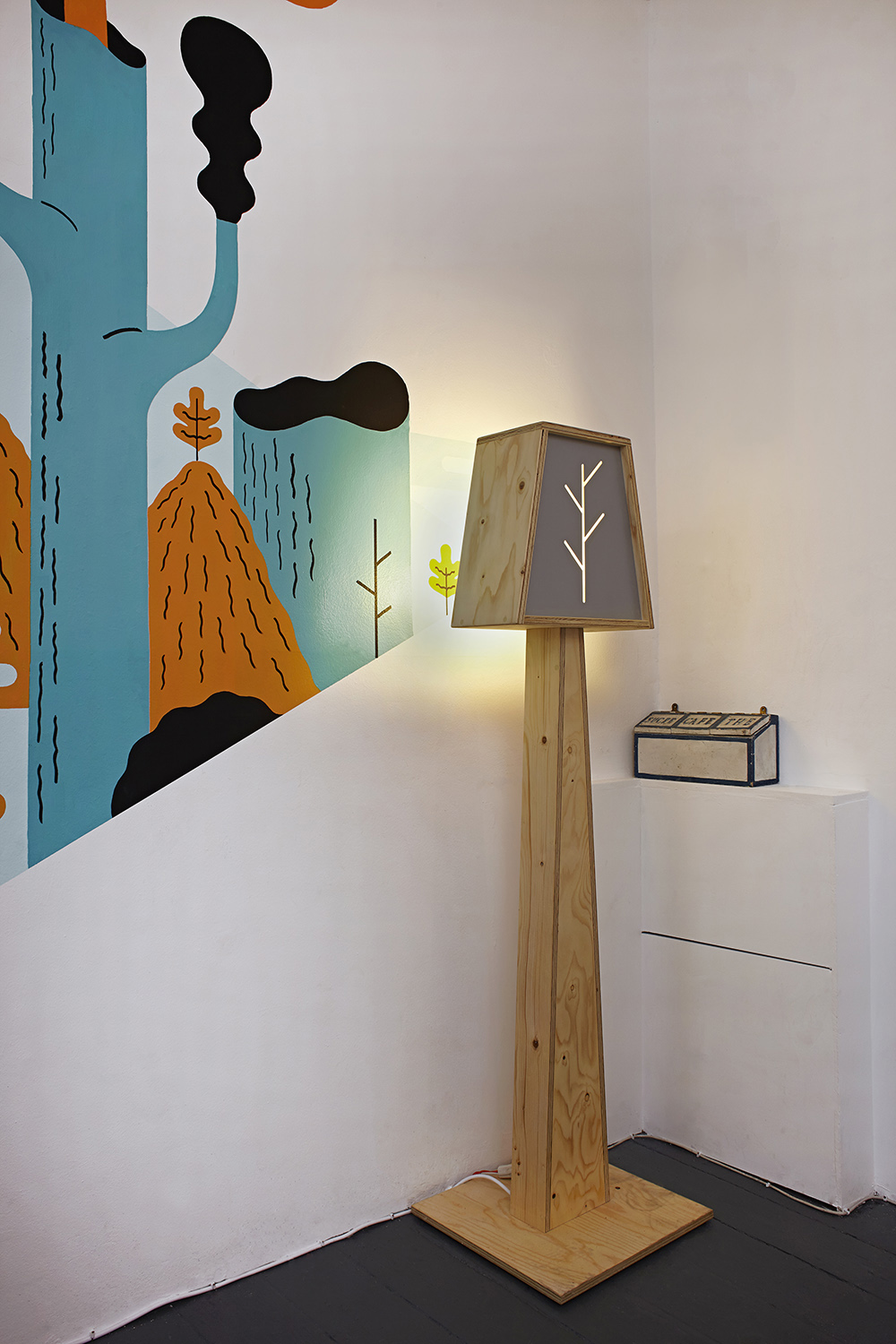 floor standing wooden light