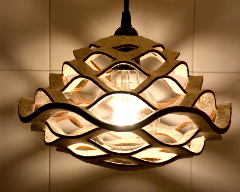 beige felt lamp