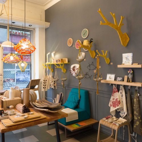 interior shot of nothrow shop in Gracia Barcelona