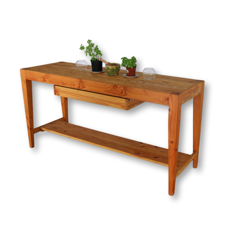 kitchen island table made from douglas pine