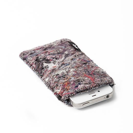 shred phone sleeves made from recycled fabric waste