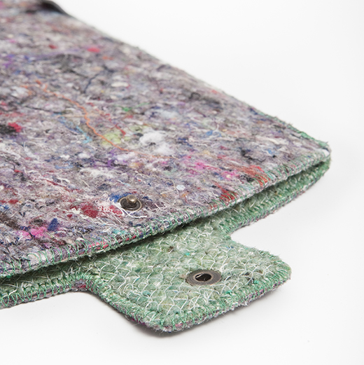 shred iPad sleeves made from recycled fabric waste