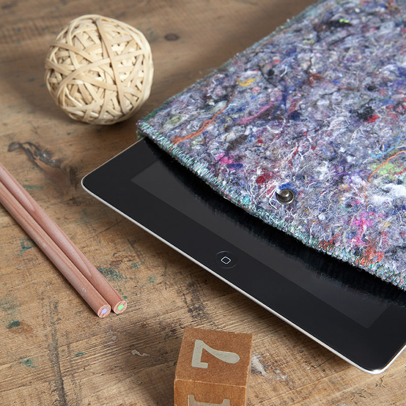 iPad sleeves made from recycled fabric waste
