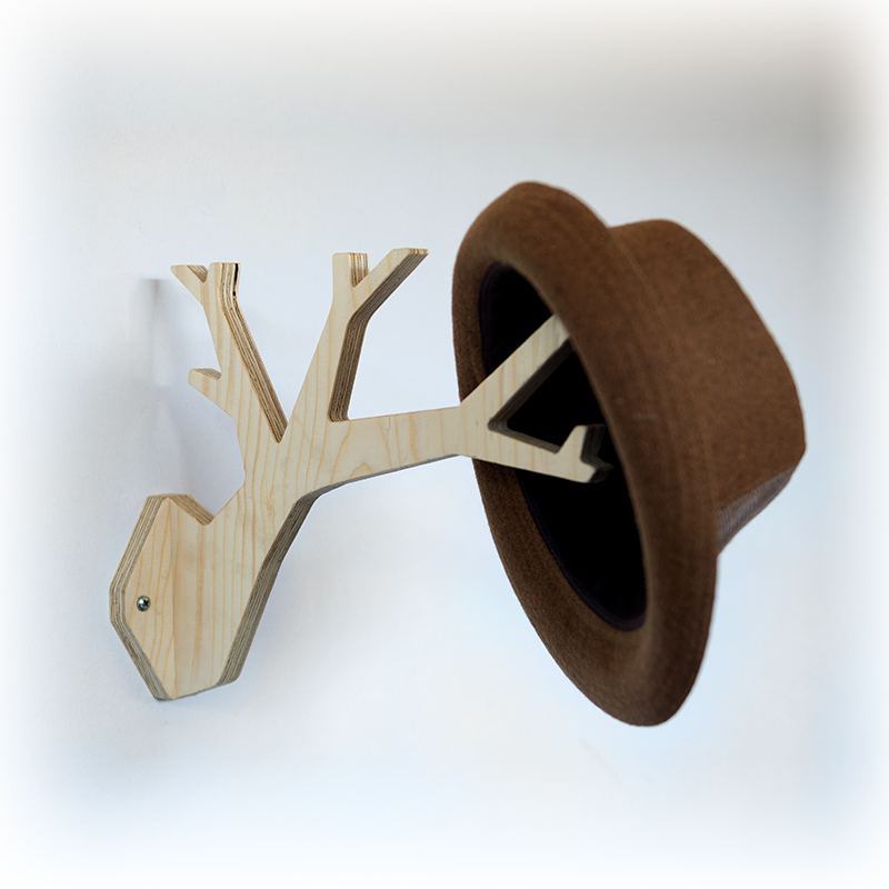 wooden tree shaped wall hanger
