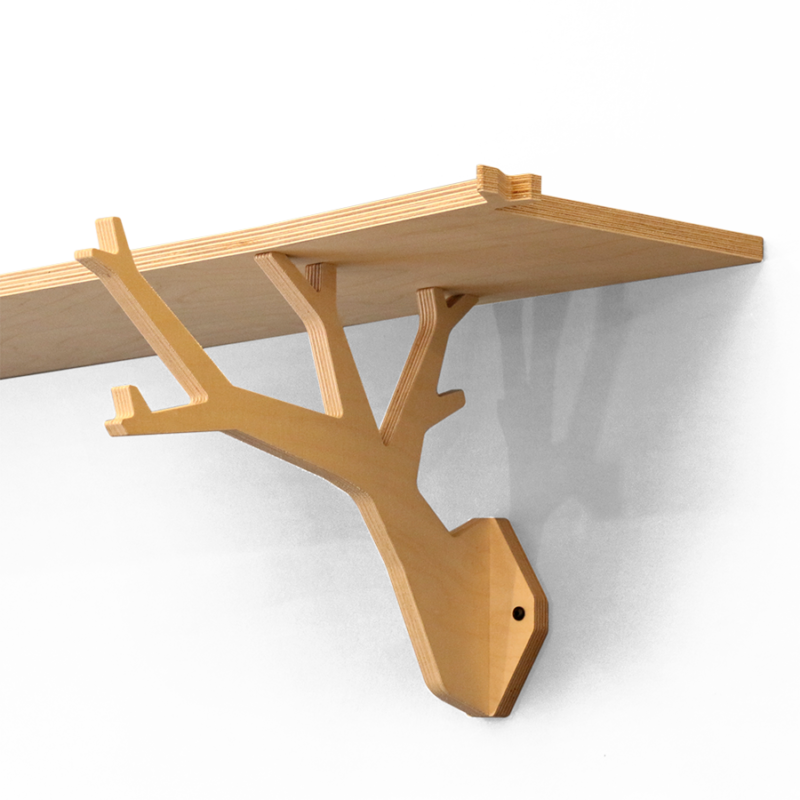 wooden shelf made from pine wood