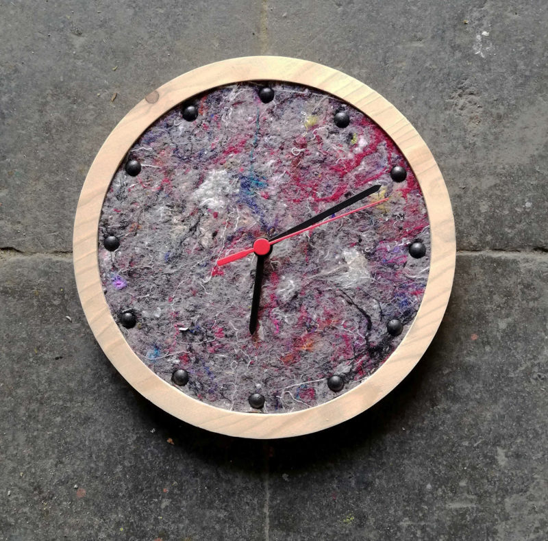 tock wall clock with grey face