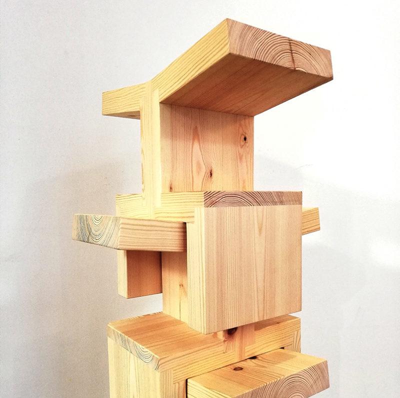 close up of stacking stools
