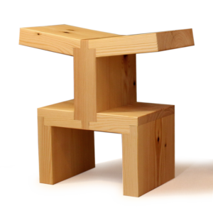 enzo wooden stacking stool