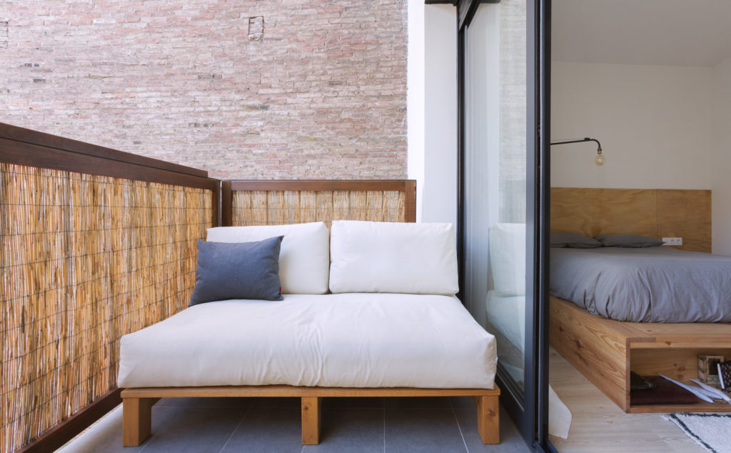 futon on terrace