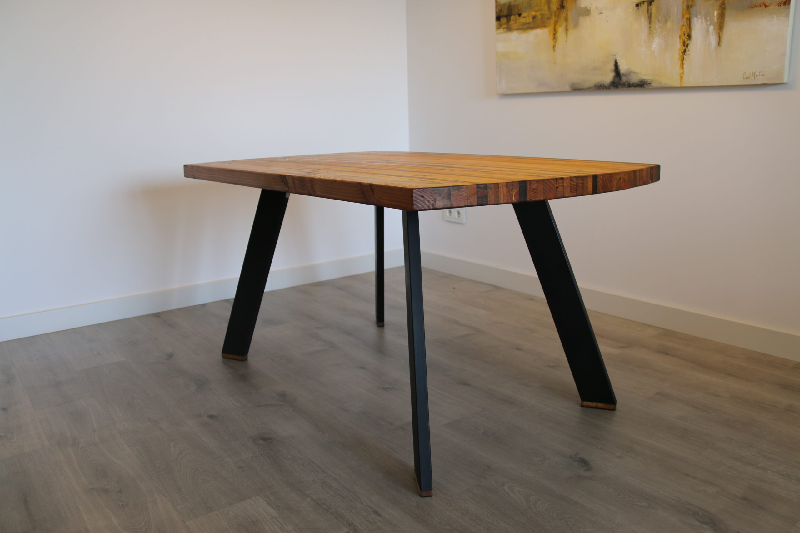 Recycled Woodstrip Table