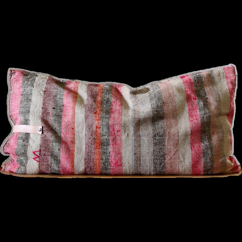 recycled corn sack cushions